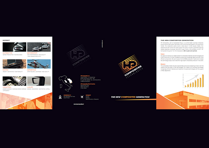hp composites realizzazione brochure spinosi marketing